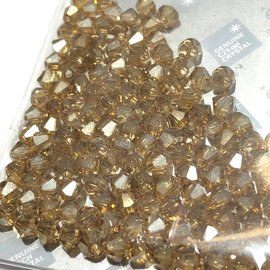 Preciosa Crystal 4mm Bicone Crystal Golden Flare 144pcs