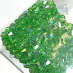 Preciosa Crystal 4mm Bicone Peridot AB 144pcs