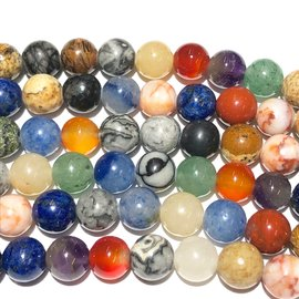 GEMSTONE Assorted 6mm Multi-Colour Round