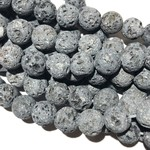 GREY LAVA Stone Natural 8mm Round
