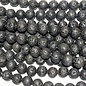 BLACK LAVA Stone Natural Round 10mm