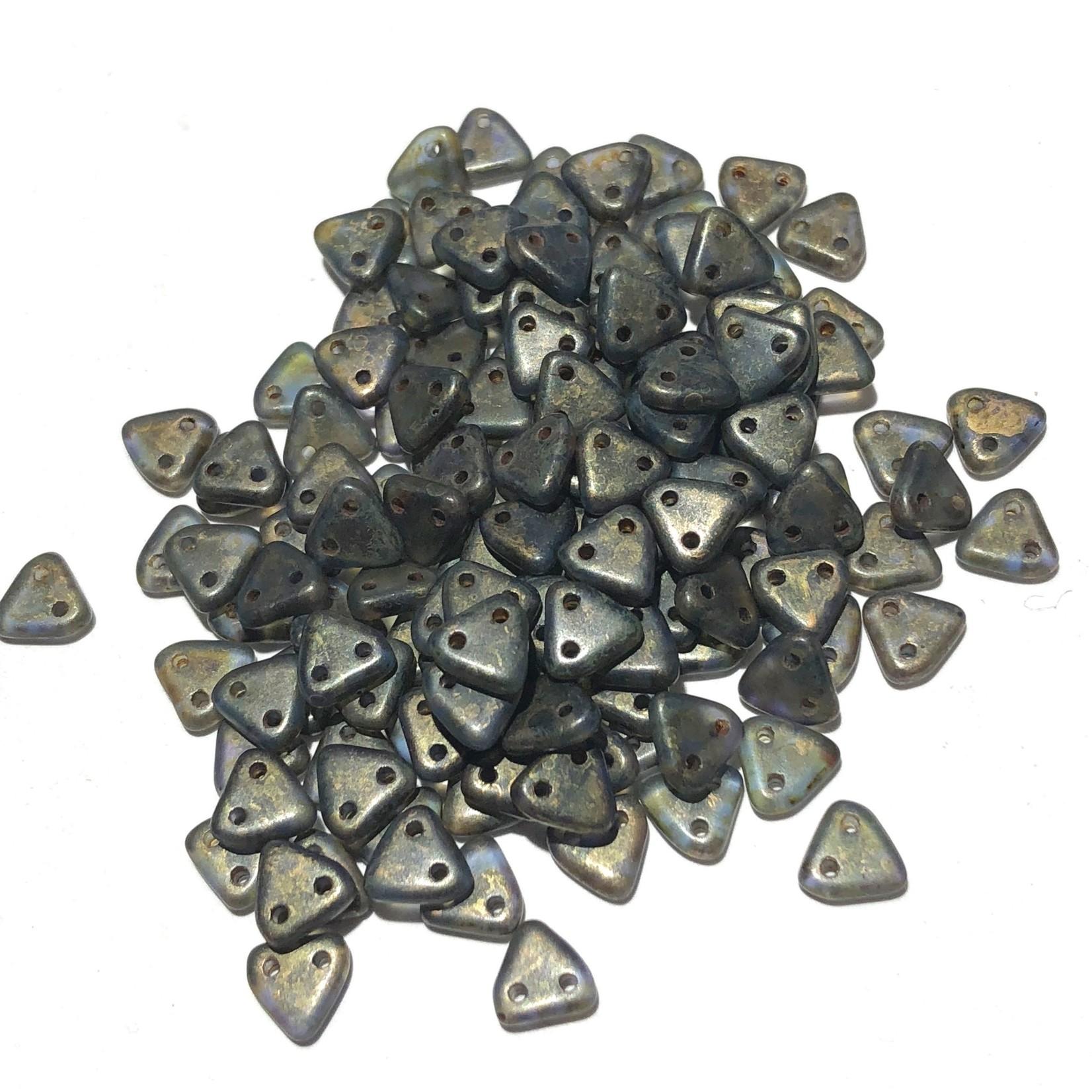 CzechMates TRIANGLE Sapphire Copper Picasso 10g