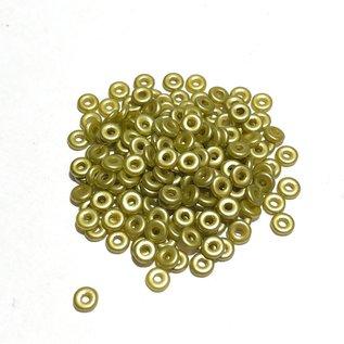 Czech O Beads Pastel Lime 5g