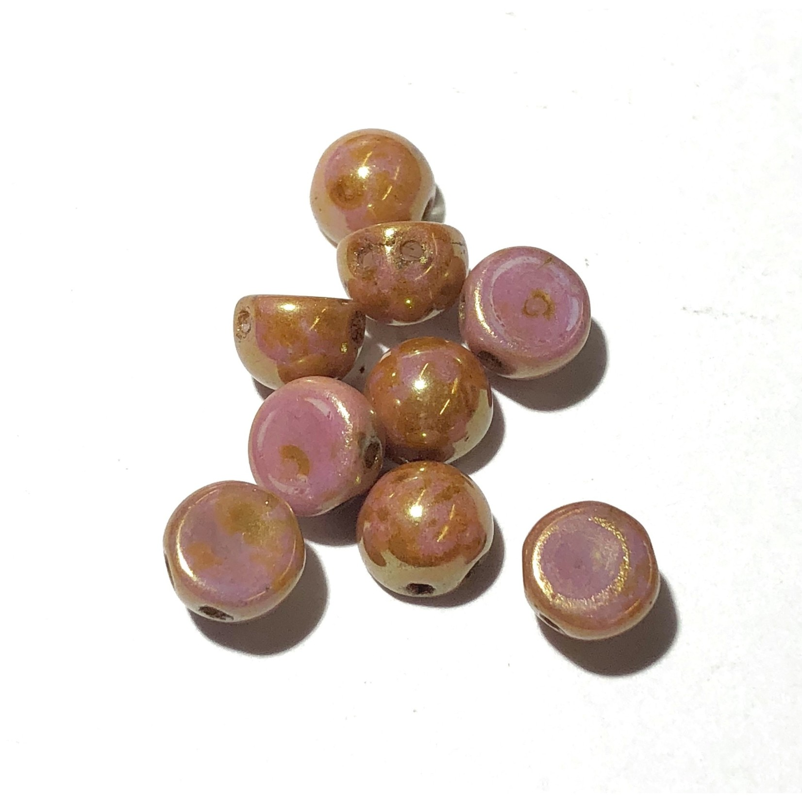 CzechMates CABOCHON Op Rose/Gold Luster 10g