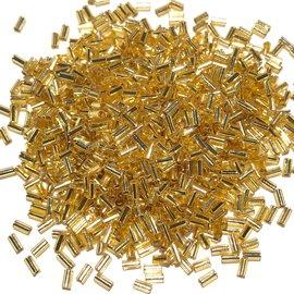 MIYUKI Bugle #1 Silver Lined Gold 25g