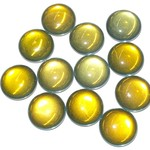Czech Backlit Tequila Cabochon 25mm Round