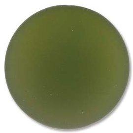 Lunasoft Cabochon Round 24mm Olive