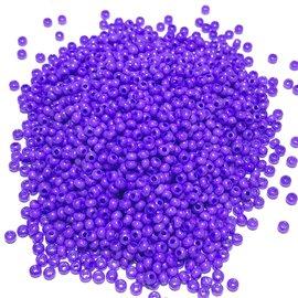PRECIOSA 10-0 Seed Beads Opaque Dark Violet 22.5g