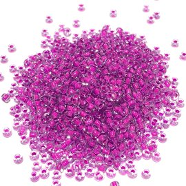 PRECIOSA 10-0 Seed Beads Crystal Lined Neon Purple 22.5g