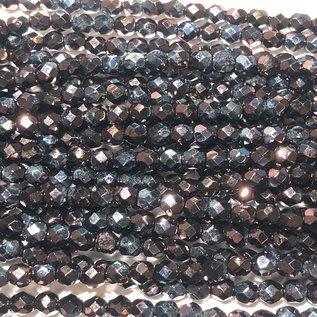 MATUBO Firepolish Metallic Amethyst Luster 4mm