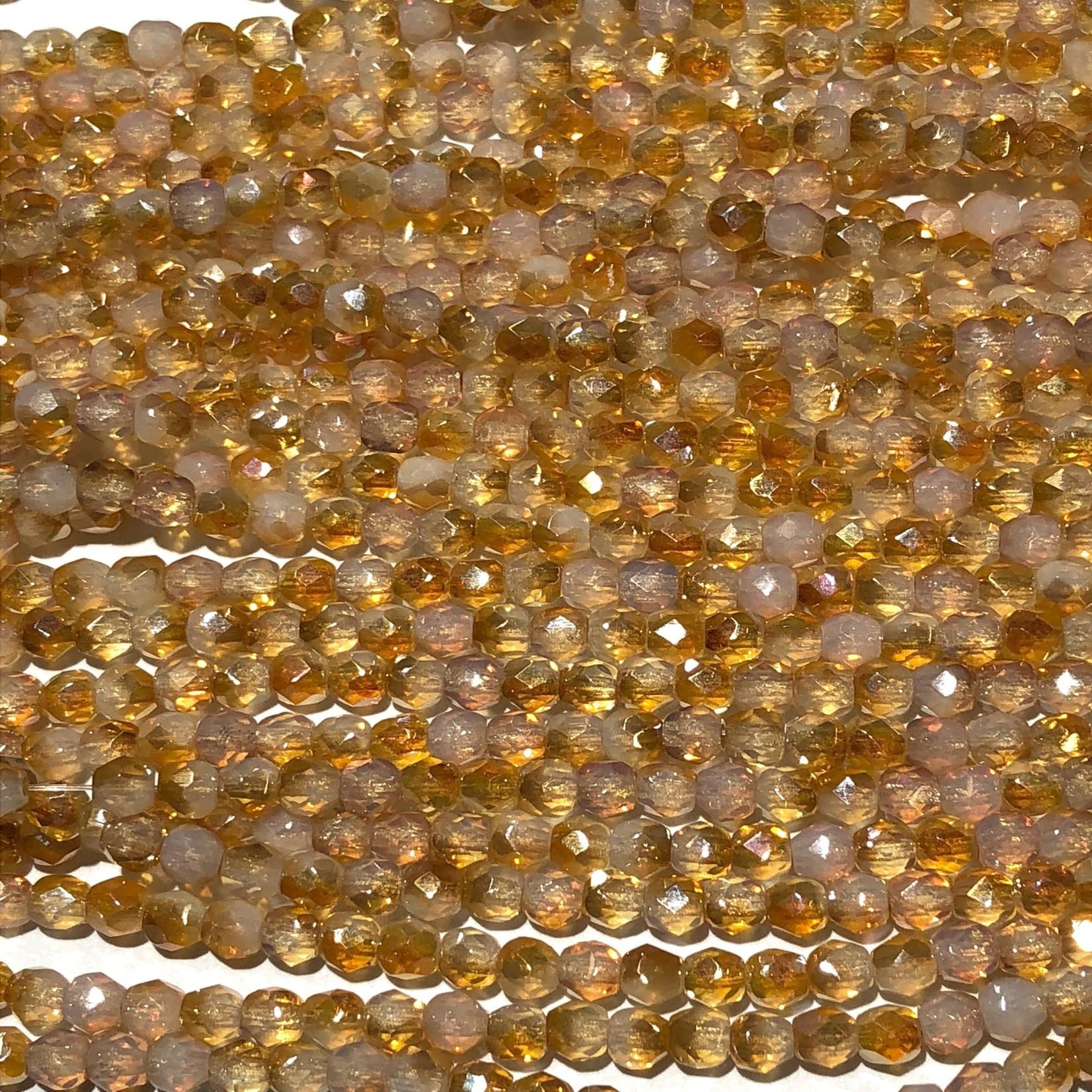 MATUBO Firepolish Celsian Milky Jonquil 4mm