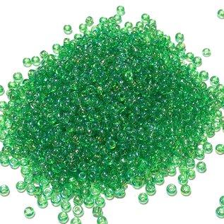 MIYUKI Rocaille 11-0 Transparent Lt Green AB 25g