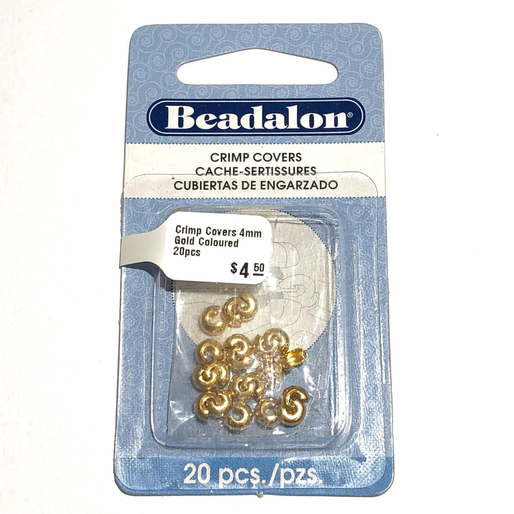 Crimp Covers 4mm Gold Coloured 20pcs