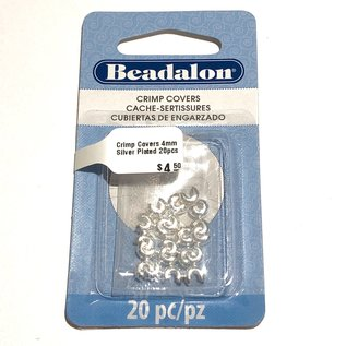 Crimp Covers 4mm Silver Plated 20pcs