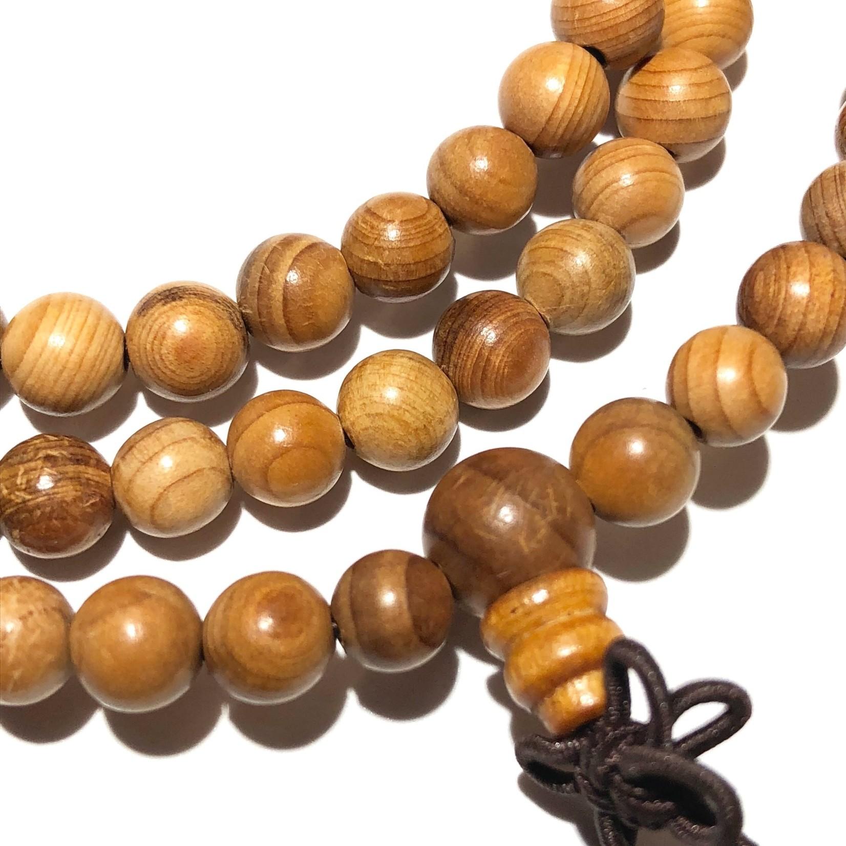Natural Asian Yew Wood Beads 6mm 108 Pcs