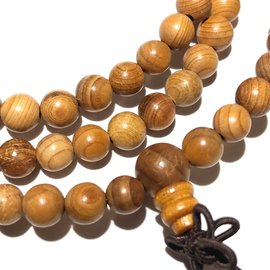 Natural Asian Yew Wood Beads 6mm 108 Pcs