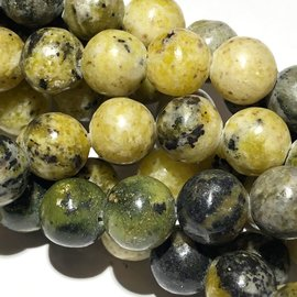 AFRICAN Yellow TURQUOISE Natural 10mm Round