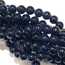 Blue Goldstone 4mm Round