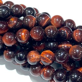 Natural RED TIGER EYE Grade A 6mm Round