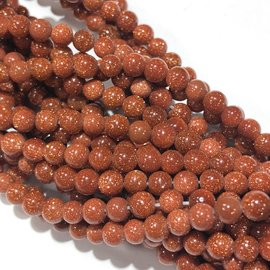 Goldstone 4mm Round