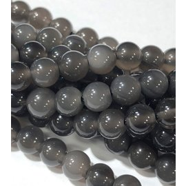 Natural Ice Obsidian 6mm Round