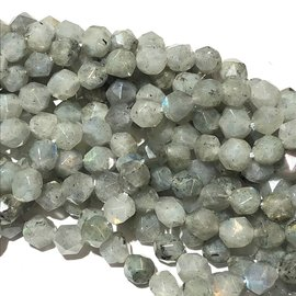 Natural Labradorite 8mm Polygon