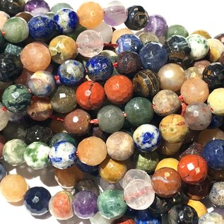 GEMSTONE Assorted 6mm Multi-Colour Faceted