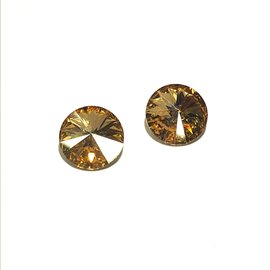 SWAROVSKI Rivoli Crystal Golden Shadow 12mm 2pcs