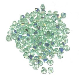 SWAROVSKI Bicone 4mm Chrysolite AB 100pcs
