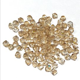 SWAROVSKI Bicone 4mm Crys Gldn Shadow 100pcs