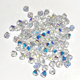 SWAROVSKI Bicone 4mm Crystal AB 100pcs