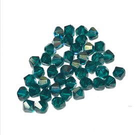 SWAROVSKI Bicone 4mm Emerald AB 100pcs