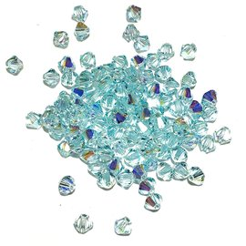 SWAROVSKI Bicone 4mm Light Azore AB 100pcs