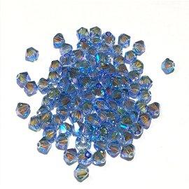 SWAROVSKI Bicone 4mm Light Sapphire AB2 100pcs