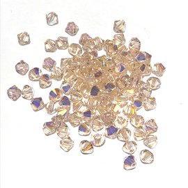 SWAROVSKI Bicone 4mm Silk AB 100pcs