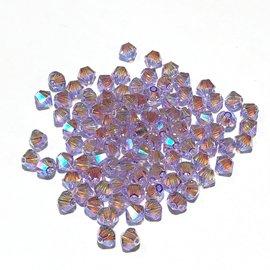 SWAROVSKI Bicone 4mm Violet AB2 100pcs