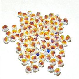 SWAROVSKI Bicone 4mm White Opal AB2 100pcs