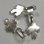 Glue-On BAILS Maple Leaf Silver Plated 12/pkg