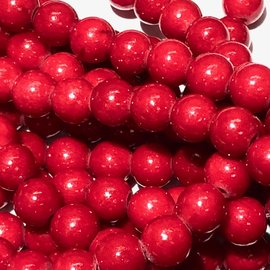 Mashan JADE Natural Dyed Red 6mm Round