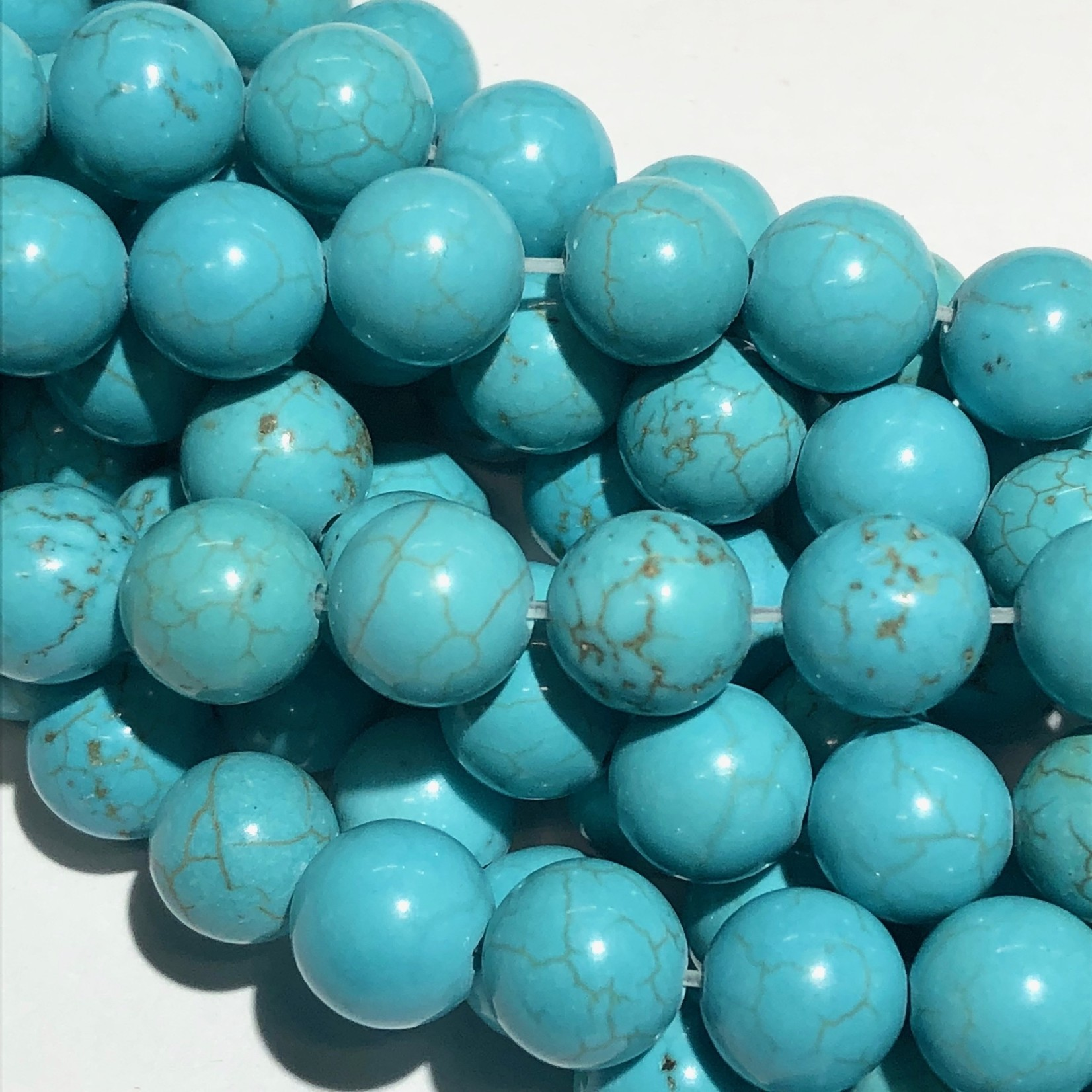 Magnesite Natural Dyed Turquoise 8mm Round