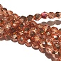 PRECIOSA Firepolish Metallic Copper Crystal 6mm