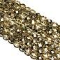 PRECIOSA Firepolish Metallic Gold Crystal 6mm