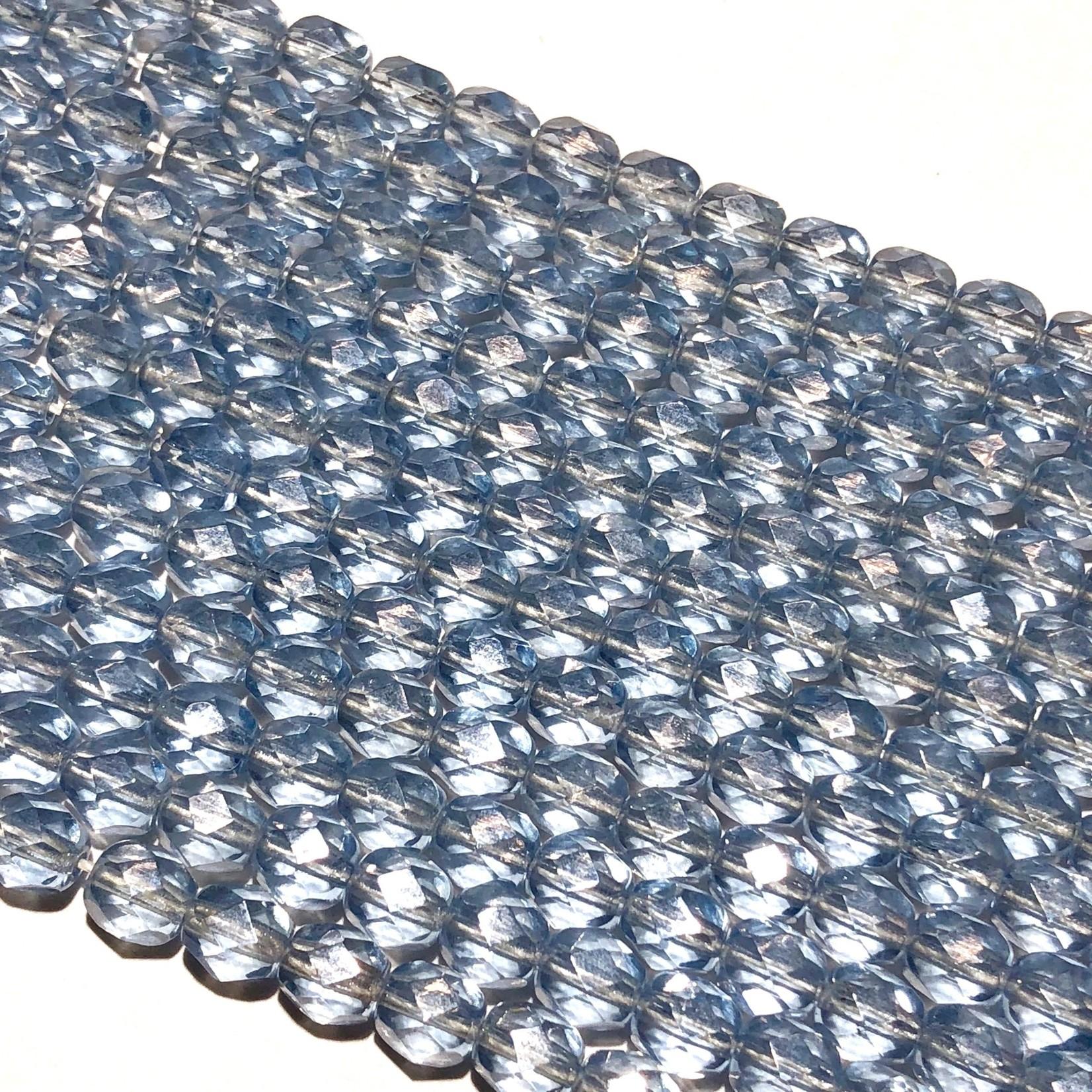 PRECIOSA Firepolish Light Sapphire Luster 6mm