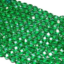 PRECIOSA Firepolish Emerald Luster 6mm