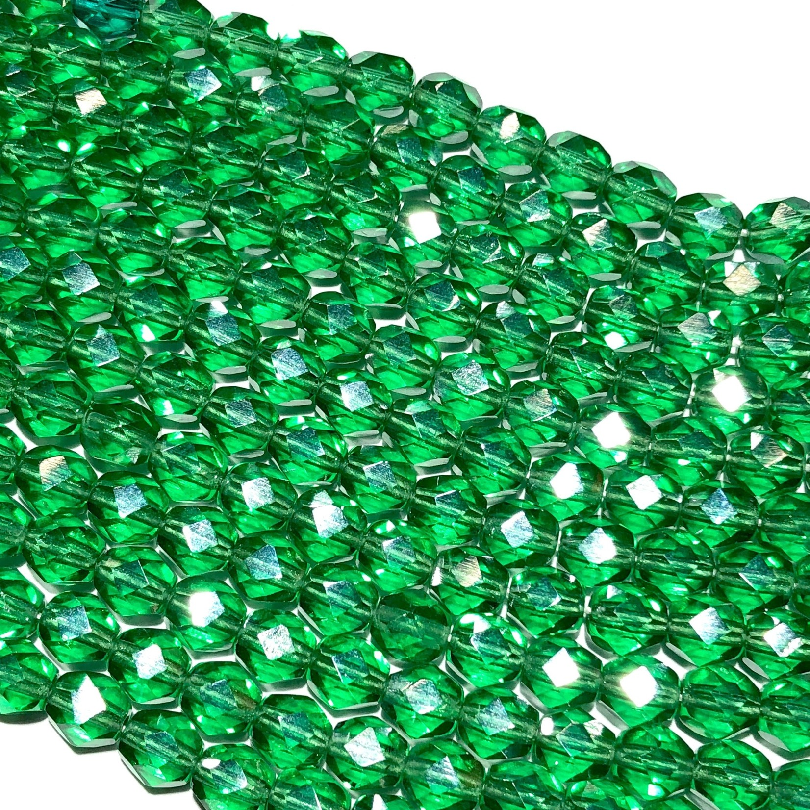 PRECIOSA Firepolish Emerald Luster 6mm
