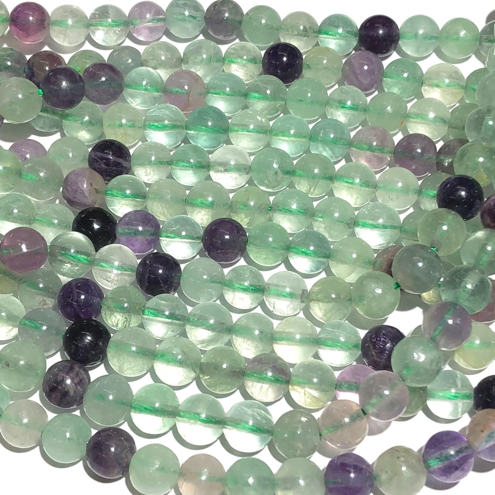 FLUORITE Rainbow Natural Grade AB 6mm Round