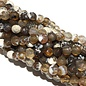 Banded AGATE Dyed Camel Brown 4mm Faceted