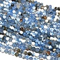 AGATE Faceted Beads Dyed Cornflower Blue 4mm
