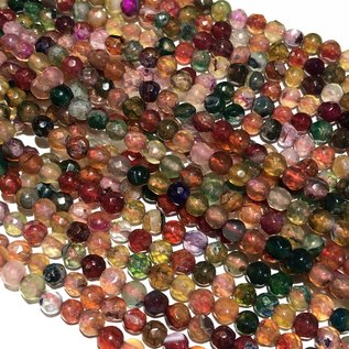 AGATE Dyed Fall Colours 4mm Faceted
