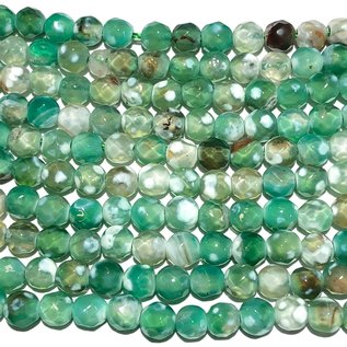 AGATE Dyed Spring Green 4mm Faceted